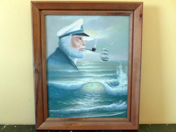 Captain Nautical Painting