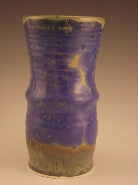 Large Tumbler with Blue Crystalline Glaze