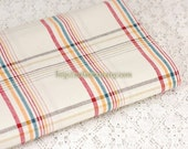 Check Gingham Collection-Simple Rainbow Checks-Japanese Dyed Cotton Fabric (1/2 Yard)