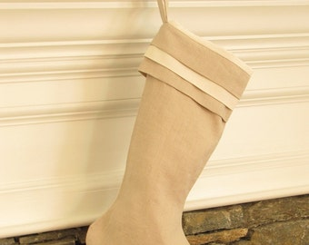 Linen Christmas Stocking Cuff Top Better Homes and Gardens