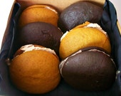 Vegan Whoopee Pie Gift Pumpkin and Double Chocolate Pumpkin and Chocolate Gift Perfect for Birthday and Camp Surprise