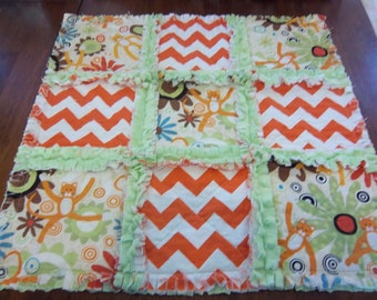 CLEARANCE XOXO the Cat Security Blanket - Raggedy Quilt