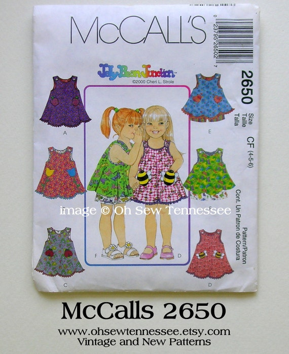 Girls Summer Dress - McCalls 2650 - an Uncut FF Sewing Pattern