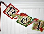 Christmas Decoration BELIEVE Banner Holiday Garland