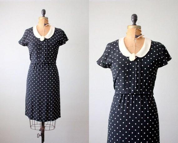 vintage 1970's polka dot day dress