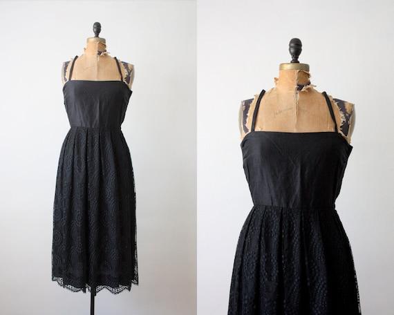RESERVED. 60s dress - 1960's black lace dress