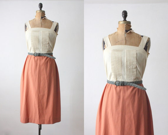 RESERVED. two tone dress - vintage 1970's two tone sundress