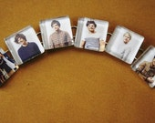 One Direction Glass Tile Bracelet by OutonaLimbStudio on Etsy