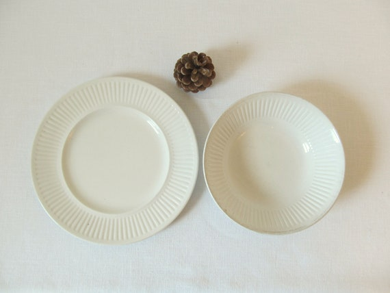 Vintage English Ironstone Plate and Bowl