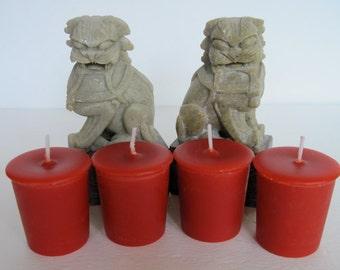 DRAGON'S BLOOD (4 votives or 4-oz jar candle)