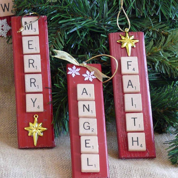 scrabble craft ideas items similar to scrabble tile ornaments on etsy 2883