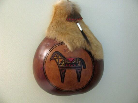 Gourd Art - Horse Wallhanging