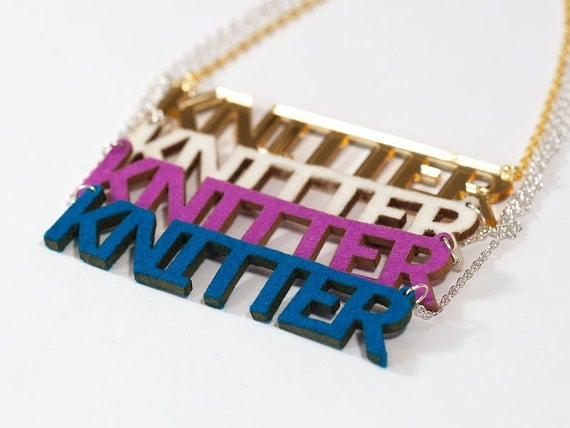 Felt Knitter Necklace - Laser Cut Wool