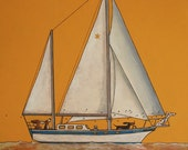 "174 Sailing – print 14x14cm/5.5x5.5"""