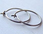 pure titanium or niobium hoop earrings for sensitive ears handmade by variya on etsy