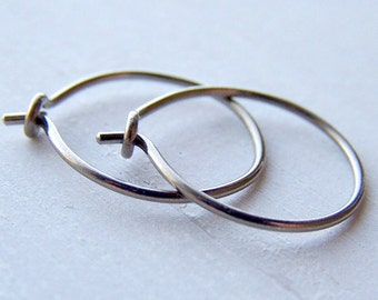 pure titanium or niobium hoop earrings for sensitive ears handmade by variya on etsy
