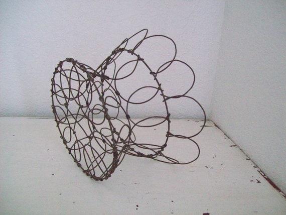 Vintage Collapsible Metal Wire Basket