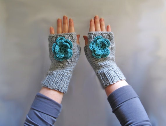 Knit Fingerless Gloves Pattern Straight Needles : 32 Two needles knit fingerless glove pattern tutorial with