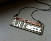 Etched Mixed Metall ART Junkie Necklace