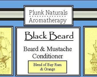 Beard and Mustache Conditioner (Black Beard) Bay Rum and Orange Blend