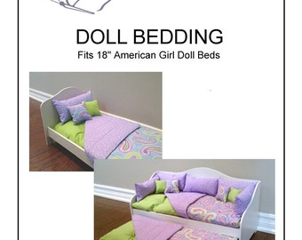 "Doll Bedding Pattern fits 18"" American Girl Doll Bed"
