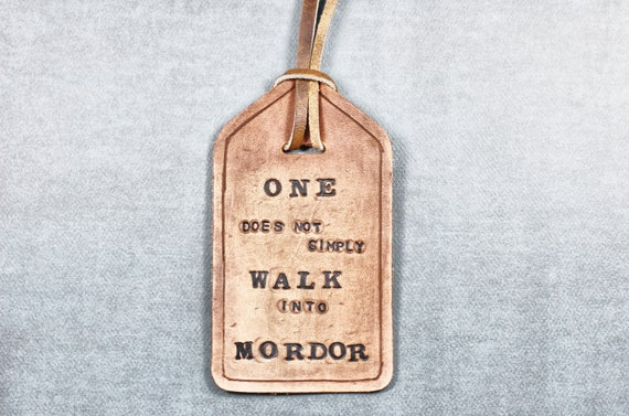 Leather Bookmark, Name Tag or Luggage Tag - Lord Of The Rings