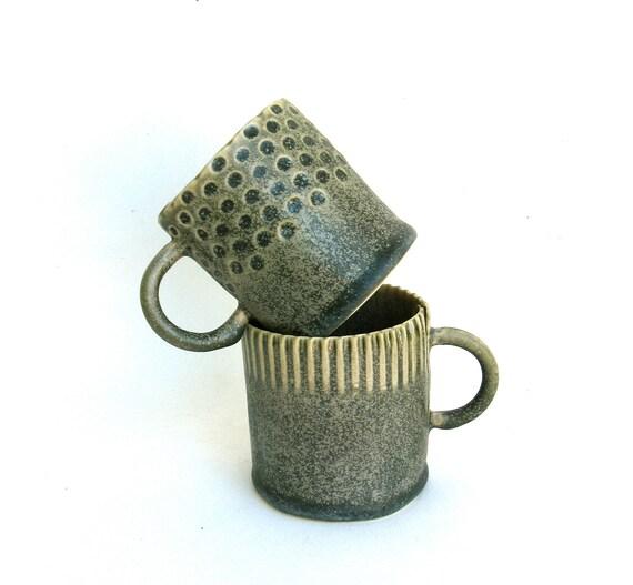 hand built porcelain cups