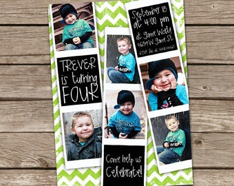 Film Strip Birthday Invitation