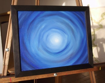 Blue Tunnel oil painting