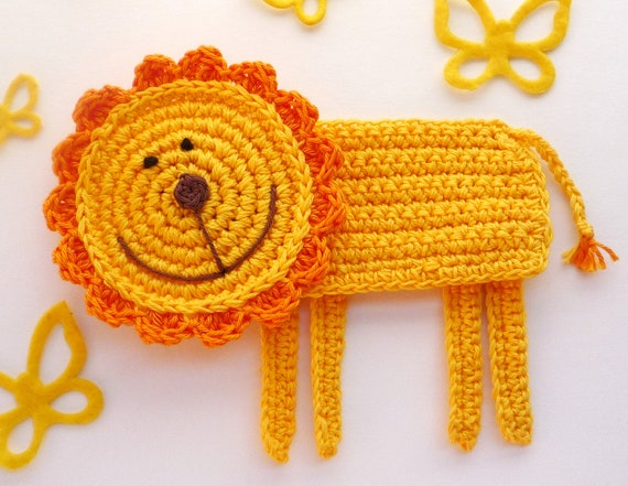 Crochet Lion Coaster - King of Jungle