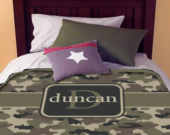Camo Personalized Custom Bedding Duvet Cover Full-Queen Size - Duvet cover ONLY