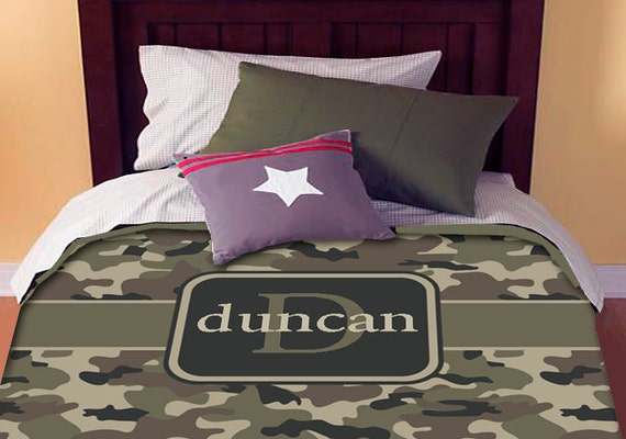Camo Personalized Custom Bedding Duvet Cover Full-Queen Size