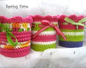 Spring Faire container cozies, set of 3, for recycled large yogurt containers