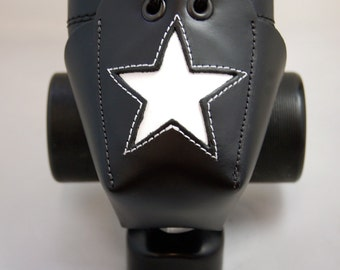 DA-45 Leather Toe Guards with White Stars