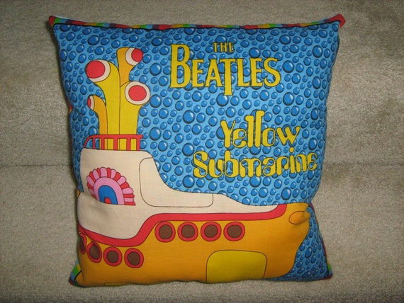 The Beatles Yellow Submarine fabric pillow