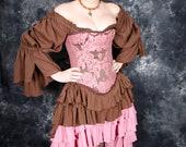 Brown Saloon Skirt 4X