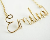 Gold Girls Kids Custom Name Necklace. Personalized Gold Child Name Necklace. Name Plate Name Necklace.