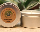 8oz WARM VANILLA SUGAR Soy Candle Travel Tin