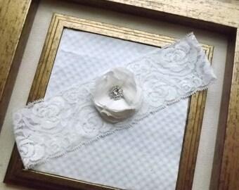 Wedding Garter - Ivory Vintage Bridal Garter - Bridal Wedding Lace Garter - Ivory Wedding Toss Garter - Bella