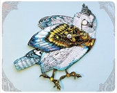 OWL Paper Doll handmade by the Filigree - Steampunk Art Paper Doll
