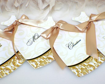 Will you be my bridesmaid, Maid of honor or Flower girl (Damask design)