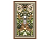 0504x - Art Nouveau Mucha Poppies - Mrs Butler Switchplates -   (Choose sizes and prices from dropdown)