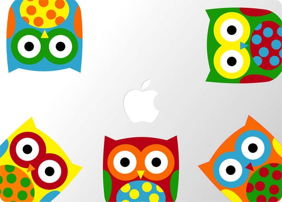 Laptop Owls Decal