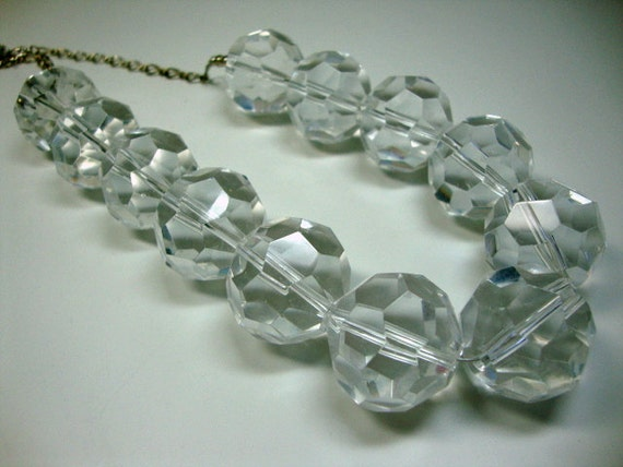 Ice Queen Mermaid Bubbles Bold Crystal Bridal Wedding Statement Necklace