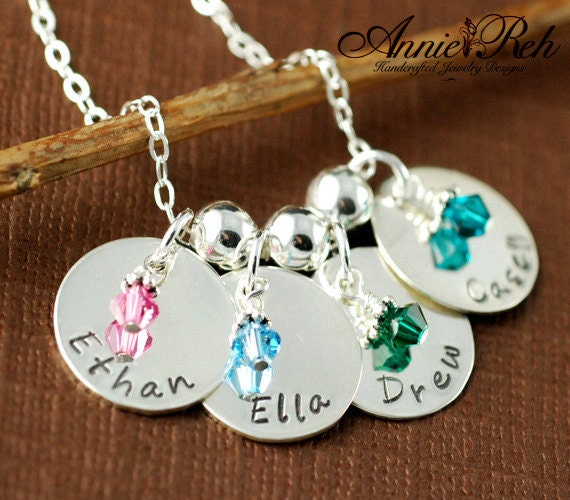 Hand Stamped Jewelry - Personalized Jewelry - Sterling Silver Necklace, Mommy Necklace