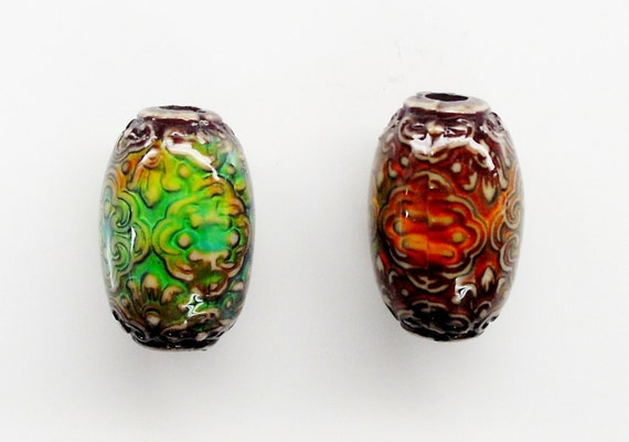 Mood Beads Temperature Changing Bead by Mirage Beads 2 pcs (b-mood-persian)