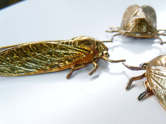 Cicada Heat Treated Brass Stampings 2 pieces
