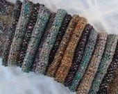 SUPER SALE WAS 72 Beachy Colors Rustic Handspun and Handwoven Scarf