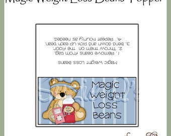 Magic Weight Loss Beans Topper - Digital Printable - Immediate Download