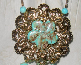 Turquoise attracts Money ( turquoise necklace)